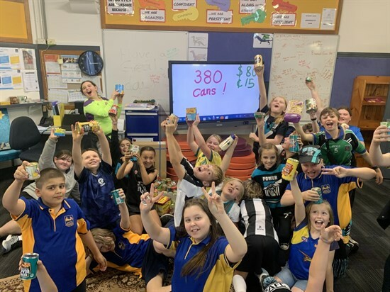 Food Bank Cans Students